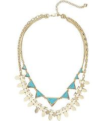 Vera Bradley Triangle Double Statement Necklace