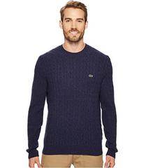 Lacoste Cable Stitch Wool Sweater with Green Croc