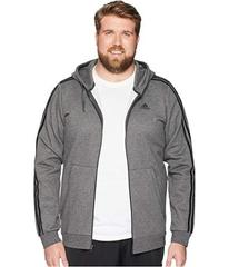 adidas Big &Tall Essentials Cotton 3S Full Zip Hoo