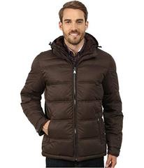 Perry Ellis Poly Zip Front Puffer