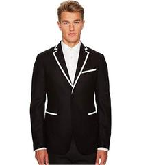 Versace Collection Woven Sport Jacket with Piping