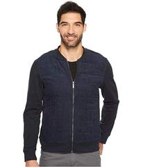 Perry Ellis Quilted Faux Suede Full Zip