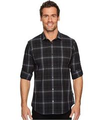 Calvin Klein Blown-Up Plaid Roll-Up Button Down Sh