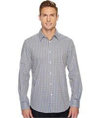 Perry Ellis Long Sleeve Multicolor Check Dobby Shi