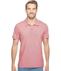 Agave Denim Short Sleeve Polo Italian Pique in Red