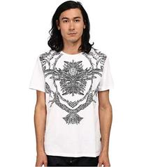 Just Cavalli Short Sleeve Feather/Flame Graphic Sl