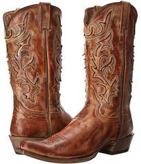 Stetson Cracked Inlay Snip Toe Boot
