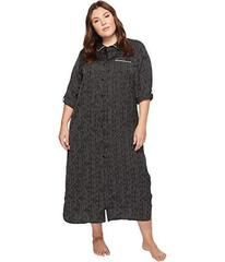 Donna Karan Plus Size Long Sleeve Maxi Sleepshirt