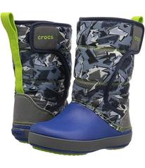 Crocs Lodge Point Graphic Snow Boot (Toddler/Littl