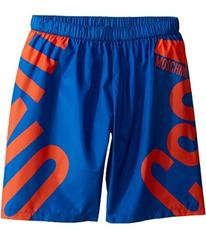 Moschino Logo Graphic Swim Shorts (Big Kids)