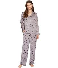 Donna Karan Satin Long Sleeve PJ Set