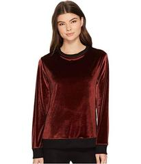 Donna Karan Velour Long Sleeve Top