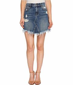 7 For All Mankind Skirt w\u002F Scallopped Hem in