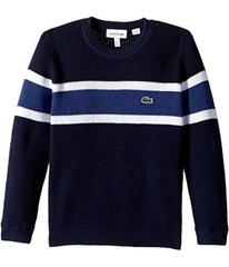 Lacoste Long Sleeve Knit Striped Sweater (Toddler/