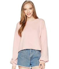 ROMEO & JULIET COUTURE Balloon Sleeve Cropped Swea
