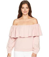 ROMEO & JULIET COUTURE Off the Shoulder Ruffle Swe