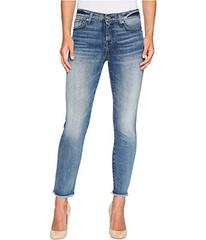 7 For All Mankind Roxanne Ankle w/ Raw Hem in Wall