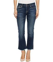 7 For All Mankind Cropped Boot w/ Frayed Hem in Mi