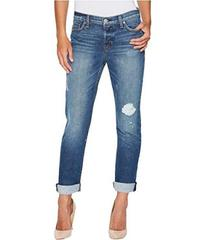 Hudson Riley Crop Relaxed Straight or Rolled Jeans