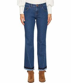 See by Chloe Denim Scalloped Trim Jeans