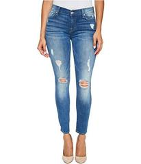 7 For All Mankind Ankle Skinny Jeans w/ Destroy in