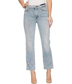 7 For All Mankind Edie w/ Bleach & Holes in Minera