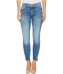 7 For All Mankind The High-Waist Ankle Skinny w/ S