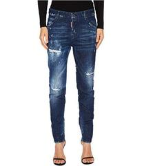 DSQUARED2 Cool Girl Stitched and Distressed Jeans