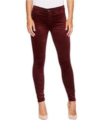 7 For All Mankind Velvet Ankle Skinny in Scarlett