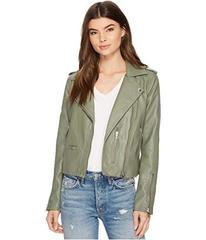 Blank NYC Vegan Leather Moto Jacket in Matcha