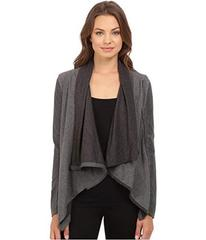 Blank NYC Drape Front Jacket in French Grey