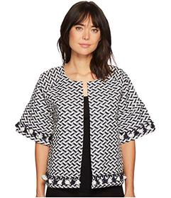B Collection by Bobeau Jackie Jacquard Crop Jacket