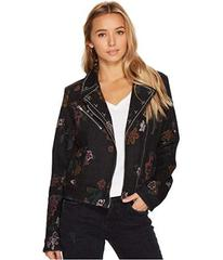 7 For All Mankind Moto Jacket w/ Studs in Print on