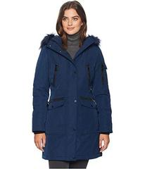 Calvin Klein Parka with Detachable Fur Trimmed Hoo