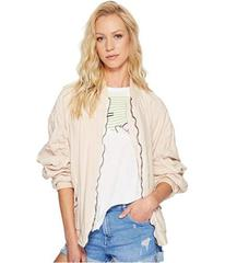 Free People Ruched Linen Bomber