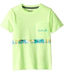Hurley Overgrown Stripe Tee (Little Kids)