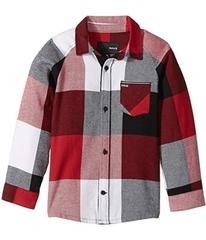 Hurley Flannel Long Sleeve Raglan Top (Little Kids