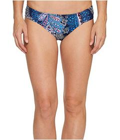 Tommy Bahama Paisley Leaves Side-Shirred Hipster B