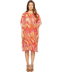 M Missoni Retro Zigzag Cotton Voile Cover-Up