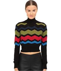 M Missoni Zigzag Block Mock Turtleneck Top