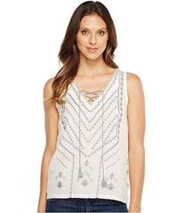 Lucky Brand Embroidered Sweater Tank Top