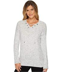Calvin Klein Flecked Lace-Up Sweater