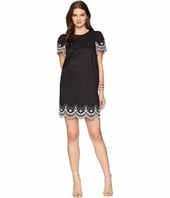 Kate Spade New York Flutter Sleeve Cutwork Dress