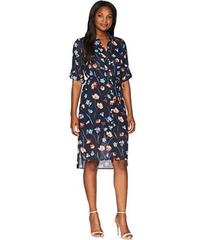 Jones New York Printed Floral Shirtdress