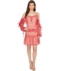 Adelyn Rae Kaileen Woven Printed Frill Shirtdress