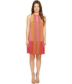 M Missoni Multicolor Plisse Sleeveless Dress