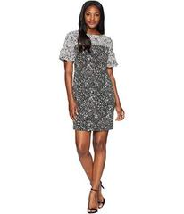 CHAPS Two-Tone Floral Georgette Dress