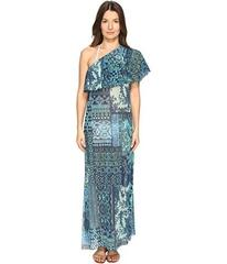 FUZZI Lace Mosaic Print One Shoulder Cover-Up