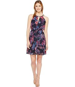 Lucky Brand Printed Halter Dress
