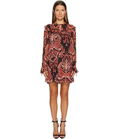 Just Cavalli Baroque Printed Long Sleeve Dress